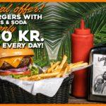 Burger menu offer