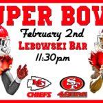 Super bowl at Lebowski Bar